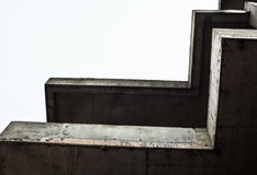 Concrete surfaces of the unfinished building Stock Photography