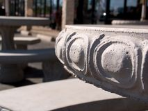 Concrete table detail Royalty Free Stock Photography