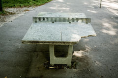 Concrete table tennis Royalty Free Stock Image