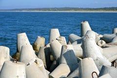 Concrete tetrapods Royalty-vrije Stock Afbeeldingen
