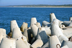Concrete tetrapods Royalty Free Stock Images