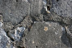 Concrete Texture. Close up of cracks in old concrete wall Royalty Free Stock Photography