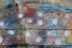 Concrete texture faded paint Stock Images