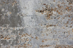Concrete texture on sea wall, Hastings, England Stock Photos