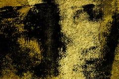 Concrete textuur van het Grunge barstte de ultra gele Pleister, steenoppervlakte, rots achtergrond voor prentbriefkaar Stock Fotografie