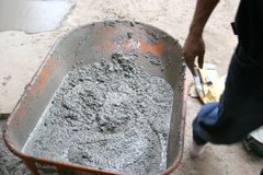 Concrete three. Redi-mix concrete used in construction Stock Photo