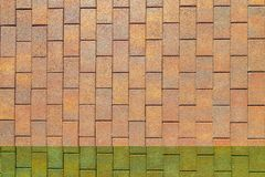 Concrete tile for garden paths s. top view. Concrete tile for garden paths in warm colors. top view Royalty Free Stock Photo