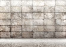Concrete tiled wall, interior background 3d rendering Royalty Free Stock Photos