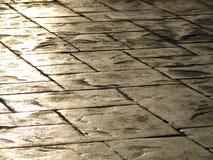 Concrete tiles. Old concrete floor  tiles detail Royalty Free Stock Image