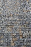 Concrete tiles path. Detail background royalty free stock images