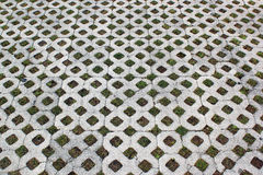 Concrete tiles - street pavement pattern Royalty Free Stock Photo