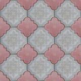 Concrete tiles texture paving slab tiles Royalty Free Stock Photos