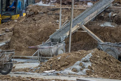 Concrete trolley ready for concrete pouring 2 Stock Image