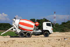 Concrete Truck on construction site Stock Photo