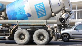 Concrete truck of CPAC Concrete product company. stock footage