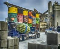 Concrete Truck Industry Stock Photo