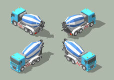 Concrete truck mixer isometric icon vector graphic illustration design. Infografic elements Royalty Free Stock Photography