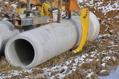 Concrete tube with gripper Royalty Free Stock Photo