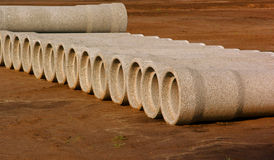 Concrete tubes Stock Photo