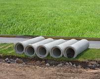 Concrete tubes Stock Photography