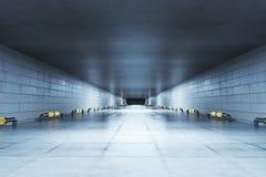 Concrete tunnel Royalty-vrije Stock Fotografie