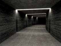 Concrete tunnel background Stock Photo