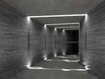 Concrete tunnel background Royalty Free Stock Photos