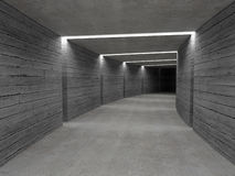 Concrete tunnel background Stock Photos