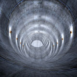 Concrete tunnel Stock Images