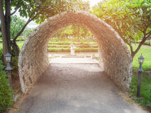 Concrete tunnel. Concrete tunnel in the garden Stock Image
