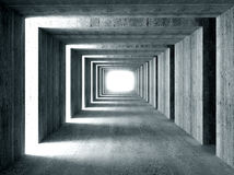 Concrete tunnel and lateral lights Stock Photos