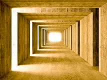 Concrete tunnel and lateral lights Royalty Free Stock Photo