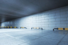 Concrete tunnel side Royalty Free Stock Photography