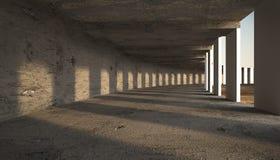 Concrete tunnel Stock Photo