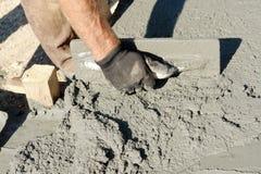 Concrete uitgespreide mengeling Stock Foto's