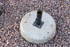 A Concrete Umbrella stand royalty free stock photos