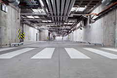 Concrete underground road Stock Photography