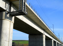 Concrete viaduct Royalty Free Stock Image