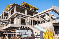 Concrete villa construction Stock Images