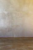 Concrete Vloeren en Pleistermuur, achtergrond royalty-vrije stock fotografie