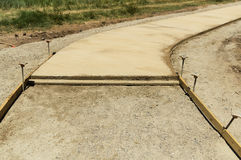Concrete Walkway Under Construction Royalty Free Stock Photography