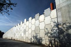Concrete wall. Of building road Royalty Free Stock Photo