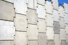 Concrete wall. Of building road Stock Photos