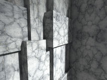 Concrete wall abstract architecture background. 3d render illustration Royalty Free Stock Images