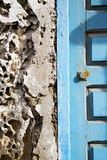 Concrete wall  in africa the old wood  facade home and safe padl Royalty Free Stock Photo