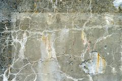 Concrete wall as a texture destroyed by time. stock images