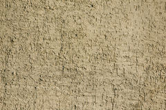 Concrete wall background. Yellow rough concrete covered wall texture Stock Image