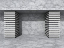 Concrete wall background. Abstract modern architecture. 3d render illustration Royalty Free Stock Image