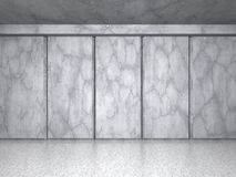 Concrete wall background. Architecture construction wallpaper. 3d render illustration Stock Photography