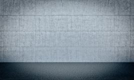 Concrete wall background. Concrete block wall background 3d rendering image Stock Photo